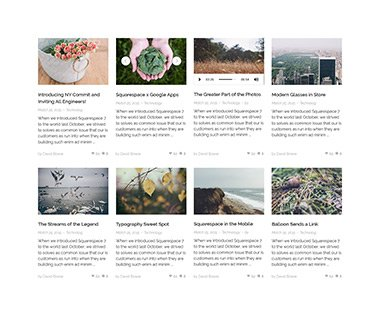 Recent posts grid style