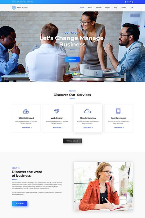 Phlox Elementor Business Demo