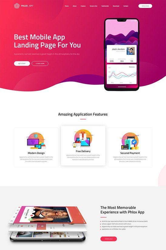 phlox-wordpress-theme-app-landing