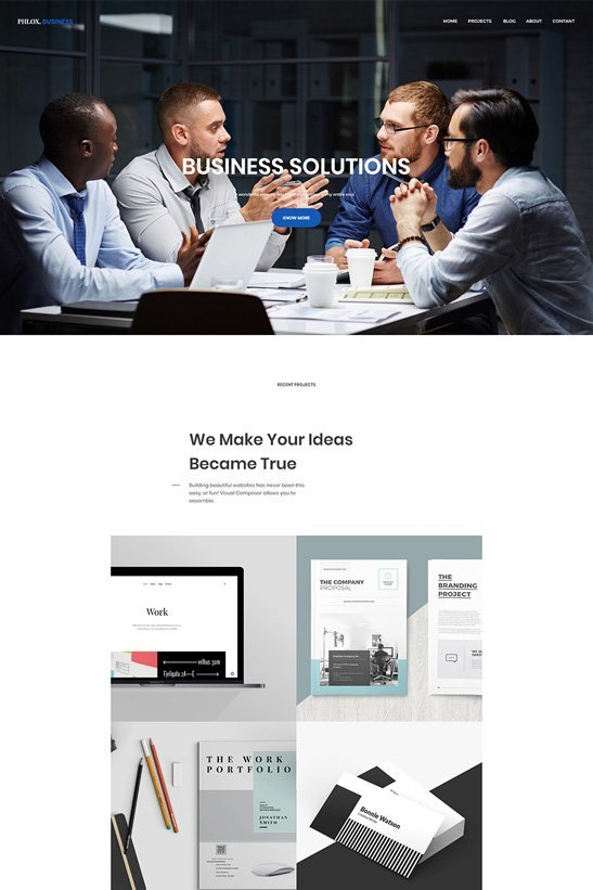 phlox wordpress theme business